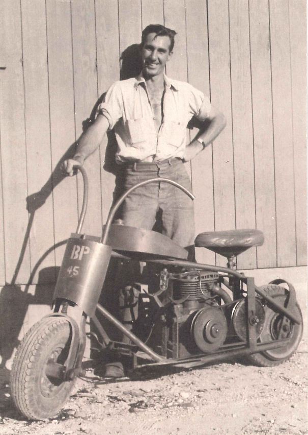 My Grandfather And His WW2 Hand Welded Motorcyle Navy Seabees