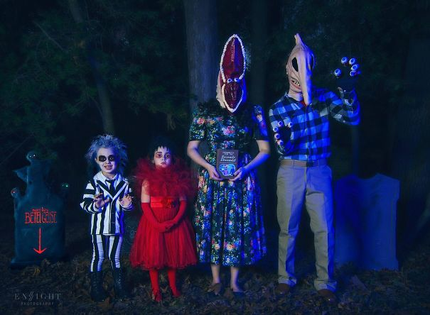 My Friend's Beetlejuice Family Halloween Costumes
