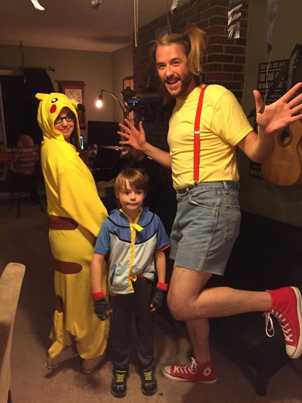 My Son Was Really Excited When My Wife And I Agreed To A Pokemon Themed Halloween Until He Saw My Costume