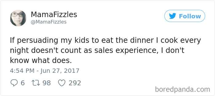Parenting Food Tweet