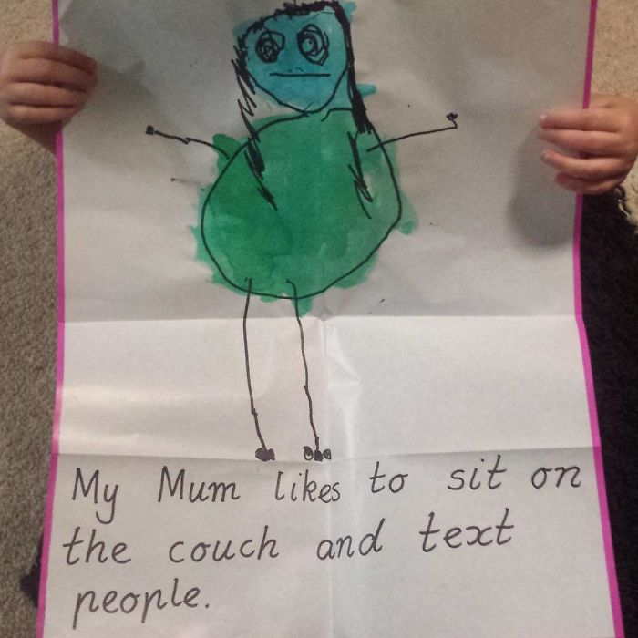 Teacher Asks Kindy Children To Write What Their Mum Does Best. My Spawn Know Me Well