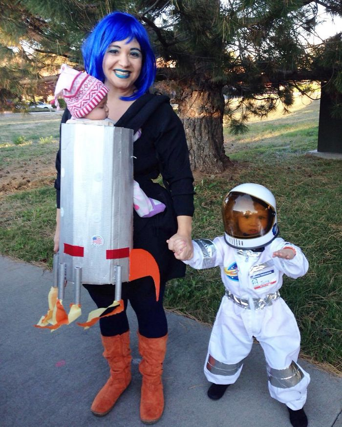 An Astronaut, Her Rocket Ship, And A Space Mama