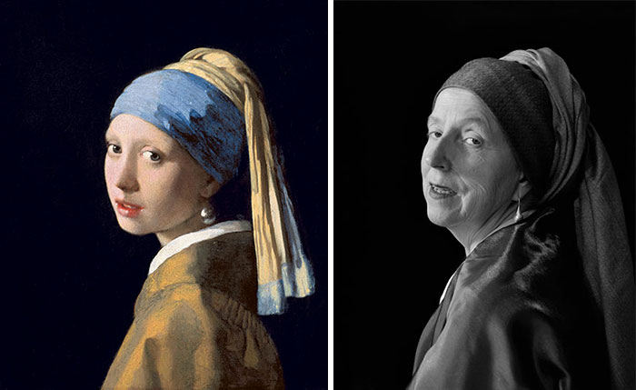 66-Year-Old Woman Recreates Famous Paintings In Self-Portraits