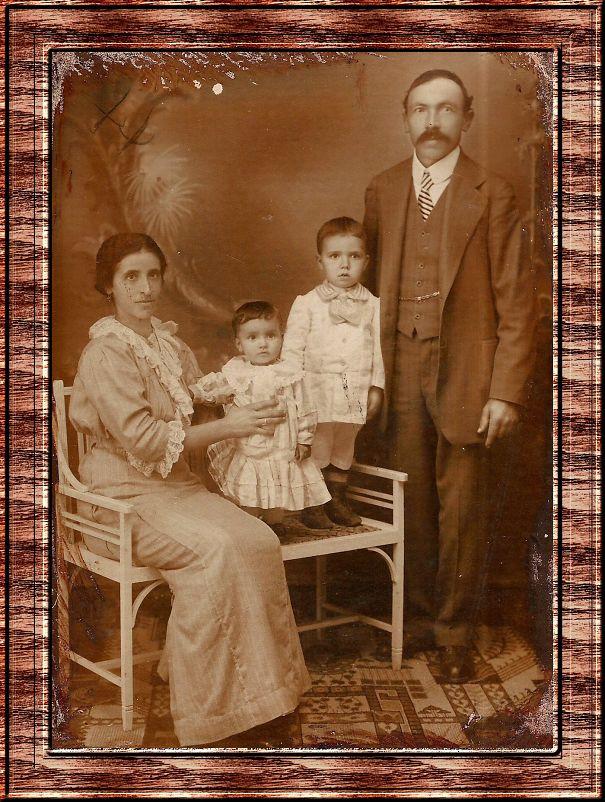 Giuseppe Meneghel And Romana Meneghel, My Grandparents - 1910, São Paulo