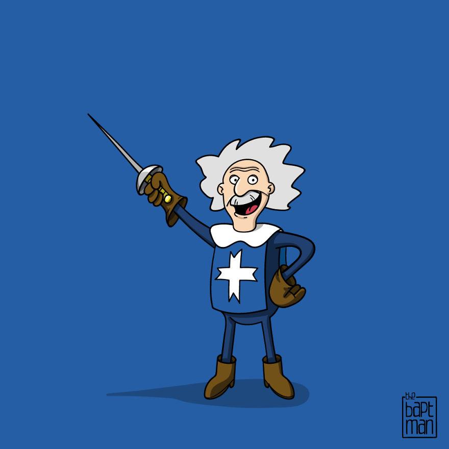 Albert Einstein The Fifth Musketeer