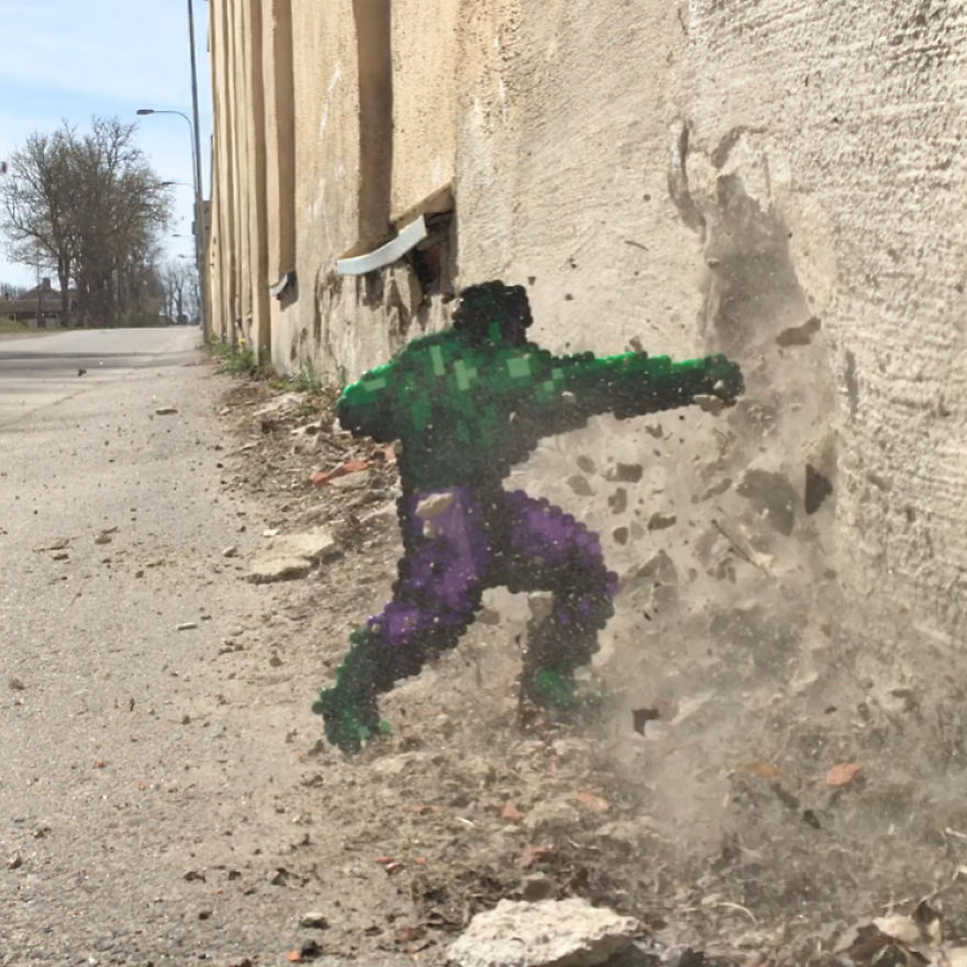 Artist Mixes Pixel Art With Reality And The Result Was Really Fun