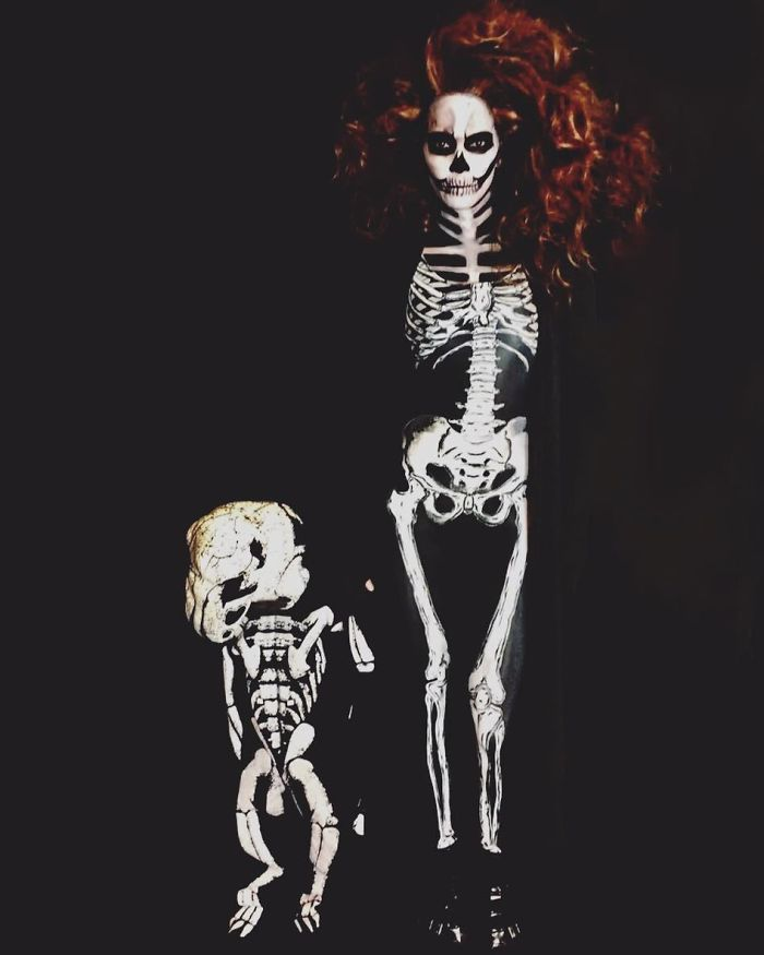 Halle Berry As A Skeleton