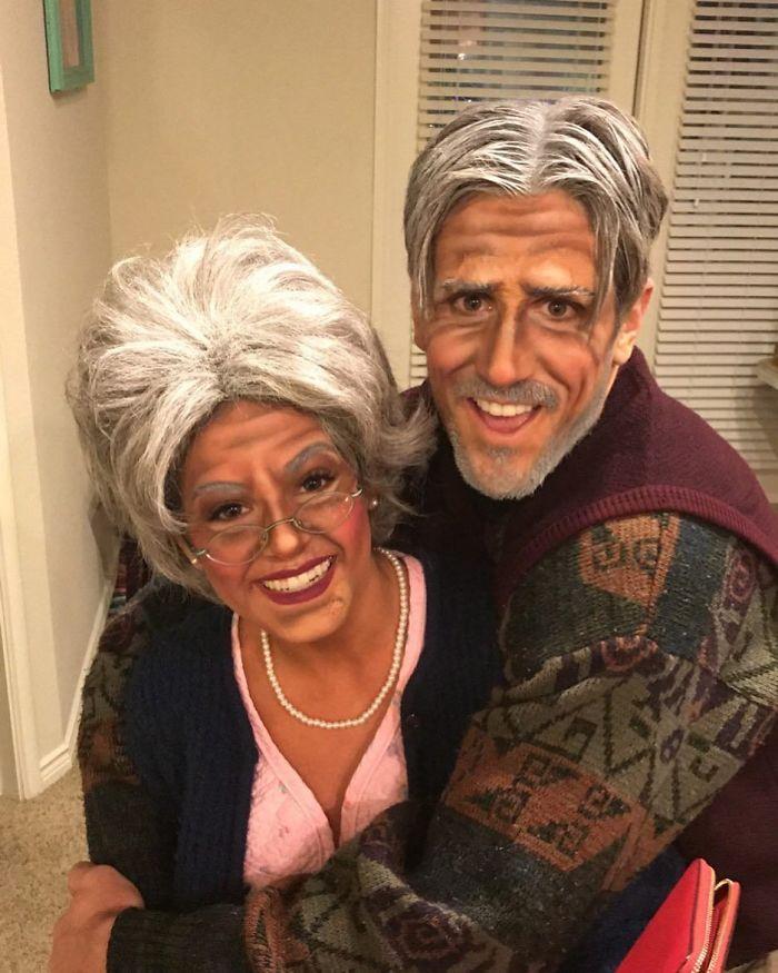Jojo Fletcher And Jordan Rodgers As An Elderly Couple