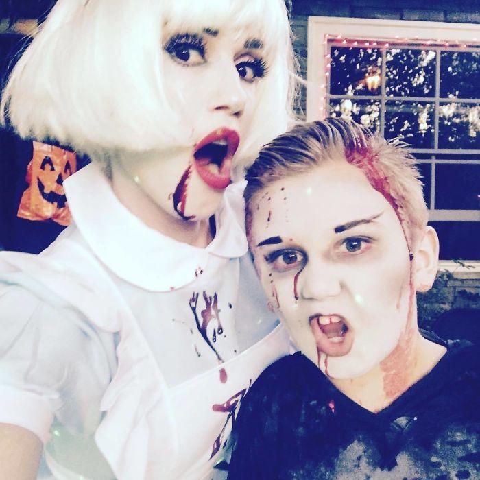 Gwen Stefani And Kingston Rossdale As Vampires