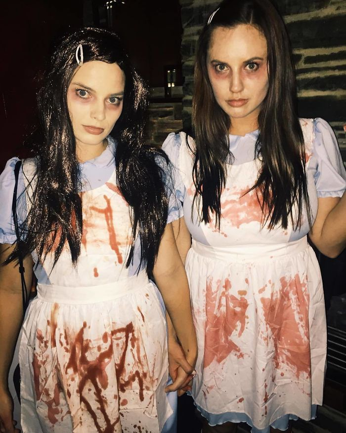 "Margot Robbie And Sophia Kerr As The Twins From ""The Shining"""