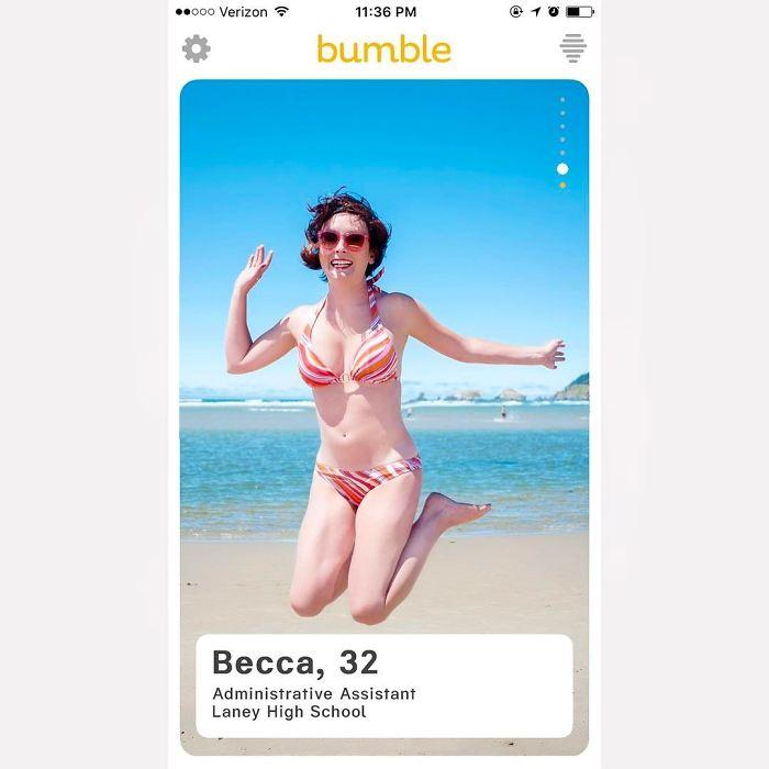 The Jumping In A Bikini Girl