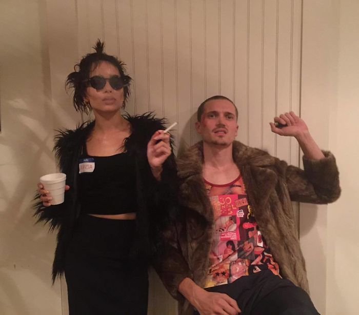 Zoe Kravtiz And Her Boyfriend As Marla And Tyler From Fight Club