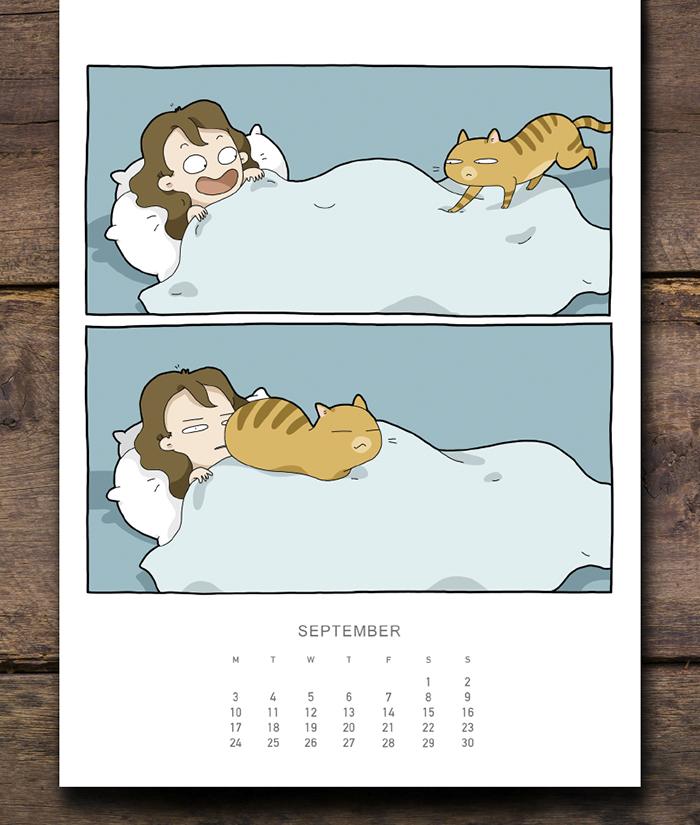 I Created A Cat Calendar To Make 2018 Pawesome Bored Panda