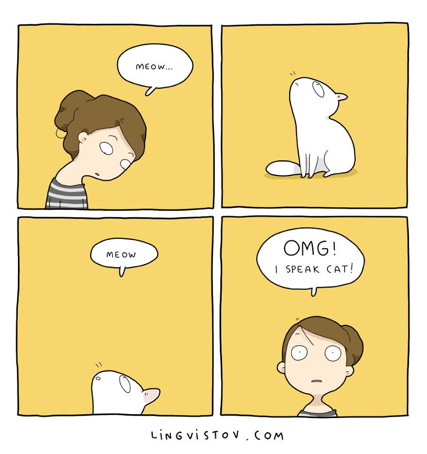 Komiksy Życie Z Kotem