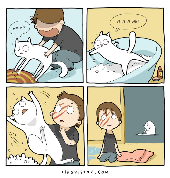 Comics About Life With A Cat
