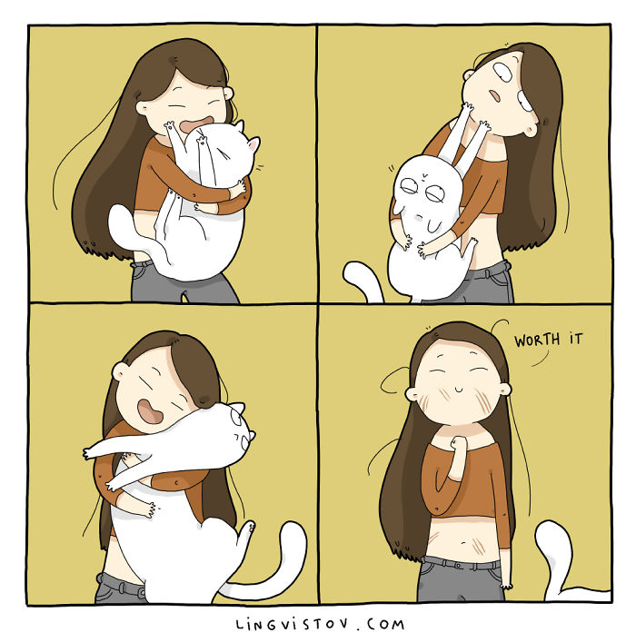 I Illustrate What It's Like To Live With A Cat In 18 Comics