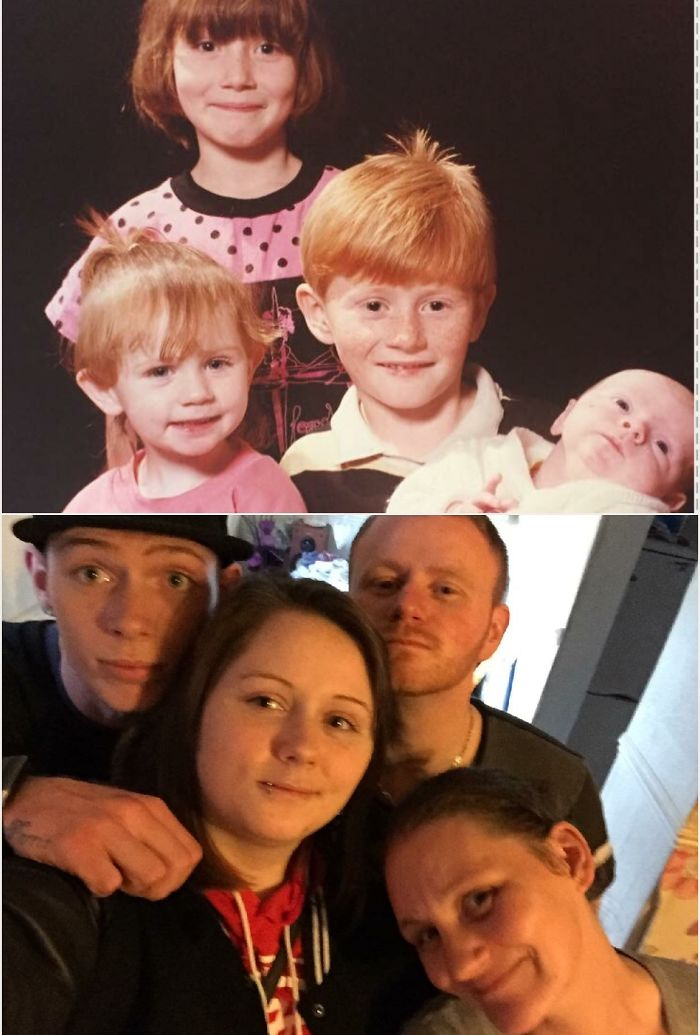 Family Photo's – Then & Now