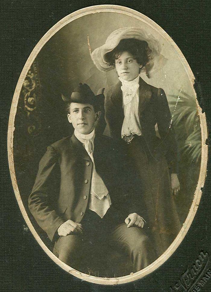 Great-Grandma Goldie & Her First Husband Tom, Circa 1910