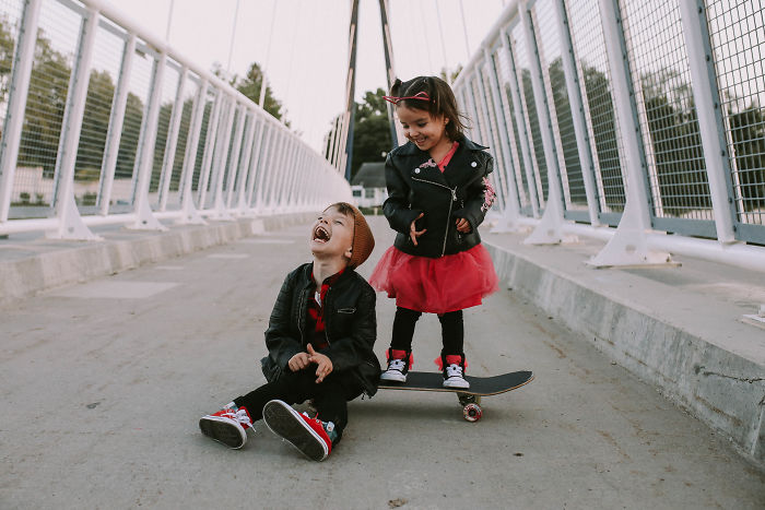 Toddler Skater Boy And Punk Rock Princess Themed Birthday Pictures