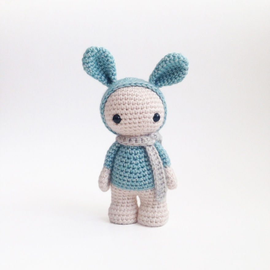 Crochet pattern Long eared rabbit PDF Ternura Amigurumi ... | 880x880
