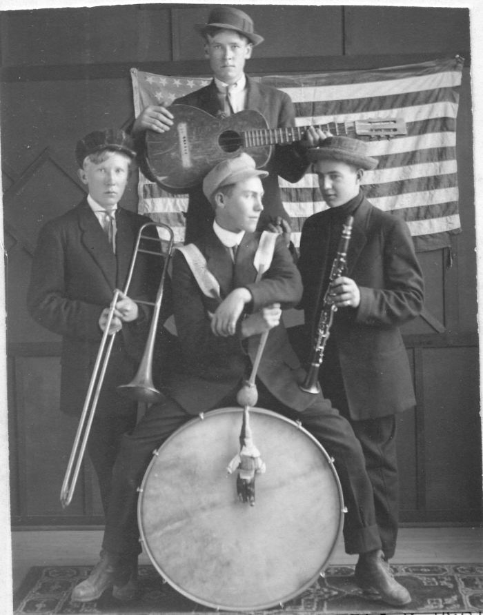 My Grandpa As Drummer In A 4-Man Band