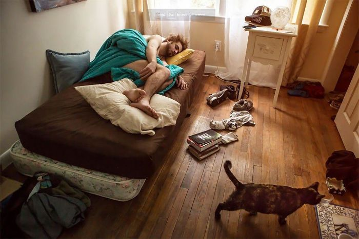 Photographs Shows In Contest People From Different Parts Of The Usa In Their Rooms