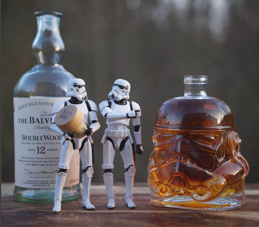 Photographer Poses Stormtroopers With Top Shelf Liquor And The Results Are Awesome
