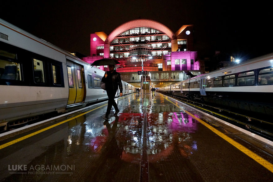 Charing Cross Station - Rainy Reflection