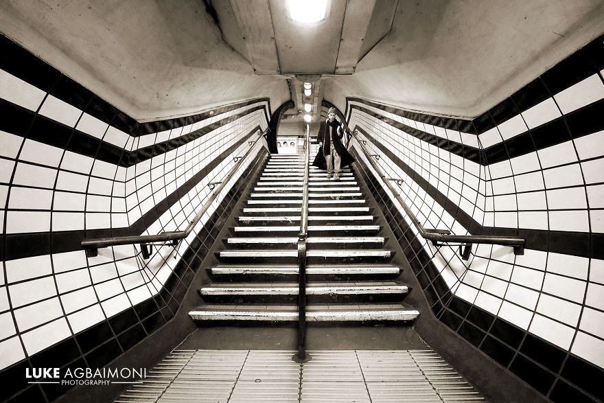 Goodge Street Station - Stairway Symmetry