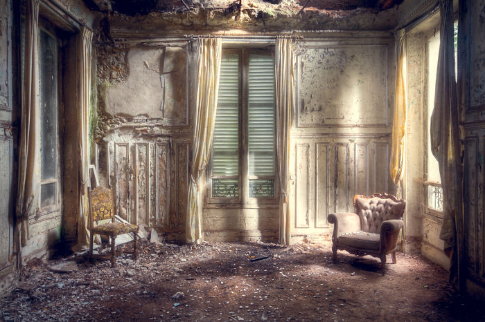 Abandoned Room With Chairs