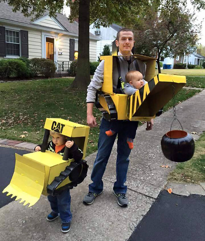 The Wrecking Crew Dad And Boys Costumes