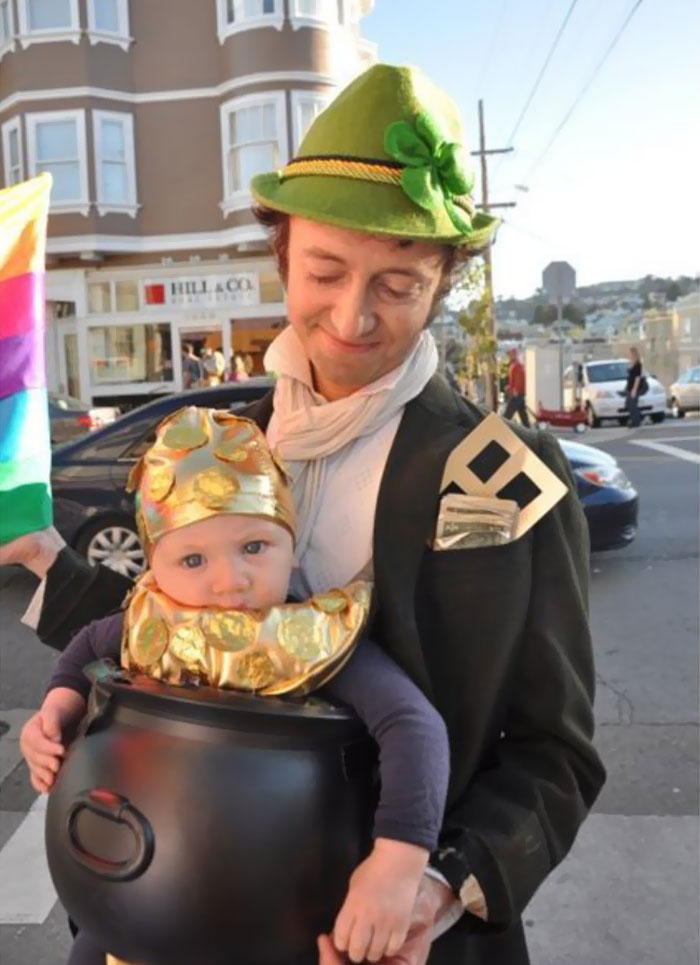 Leprechaun With His Pot Of Gold