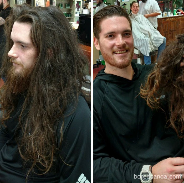 10 Incredible Photos Before And After A Haircut Prove A Good Barber