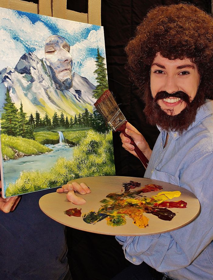 A Happy Little Costume Inspired By Bob Ross