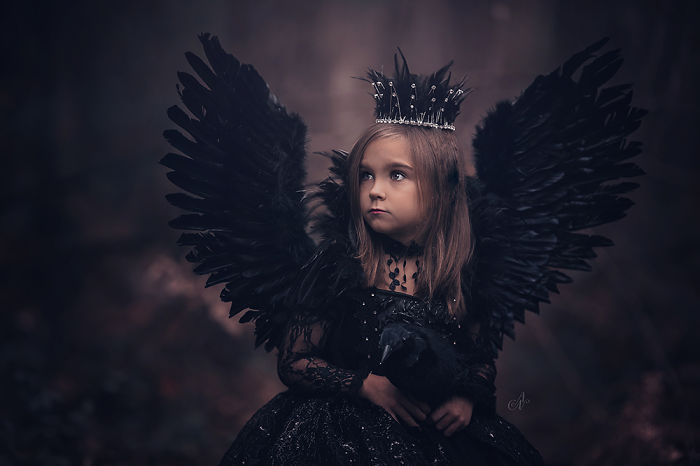 """I Did A Photoshoot Series Called """"Nevermore"""" Based On The Poem """"The Raven"""" By Edgar Allen Poe For The Season Of Halloween."""