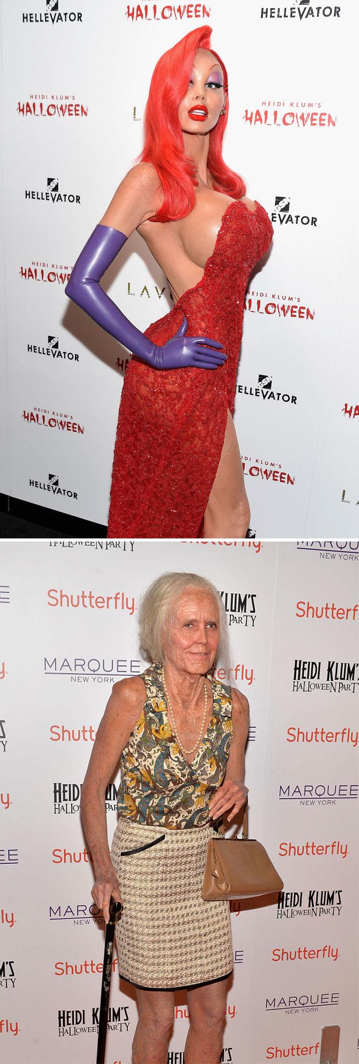 Heidi Klum As Jessica Rabbit And 95-Year-Old Heidi