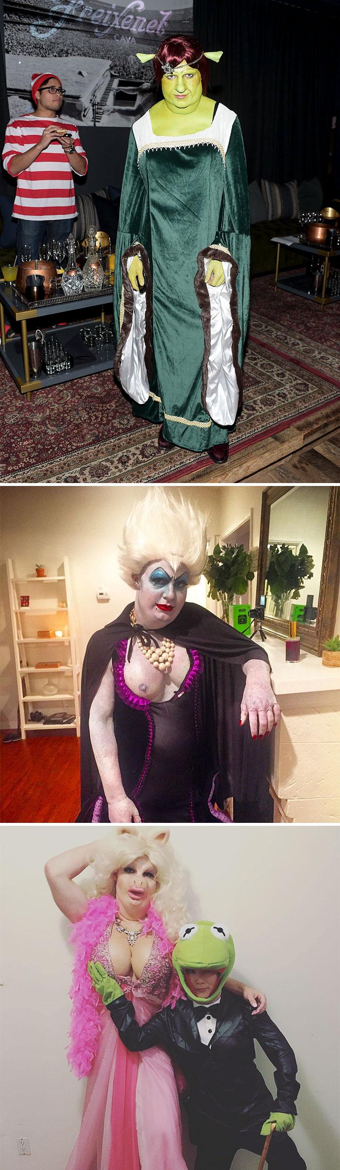 Colton Haynes As Princess Fiona, Ursula And Miss Piggy