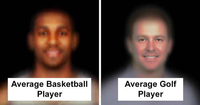 Someone Combined Hundreds Of Faces To Determine The Average Look Of Top Professional Athletes