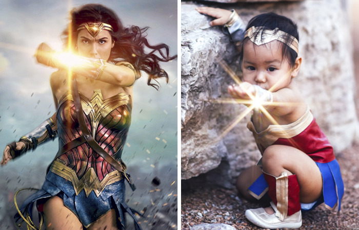 Mother Transforms Her Baby Daughter Into Wonder Woman And The Results Are Adorable