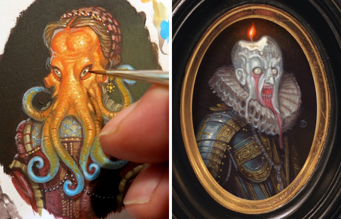 I Paint Tiny Portraits Of Noble Monsters