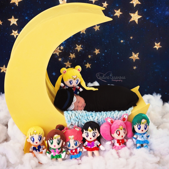 Sailor Moon Newborn Photo Shoot