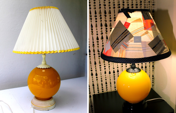 I Gave This Lamp A Makeover With Wallpaper Samples And A Necktie