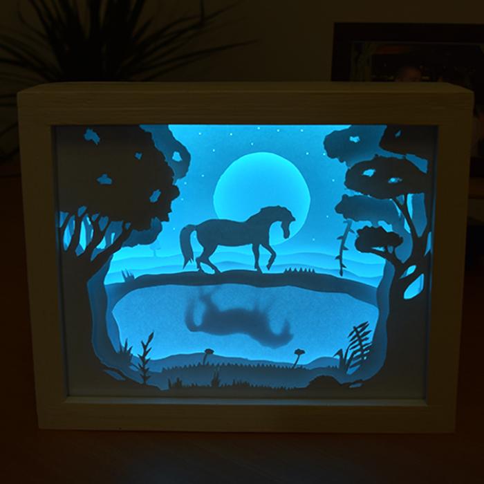 I Made A Magical 3D Paper Cut Light Box