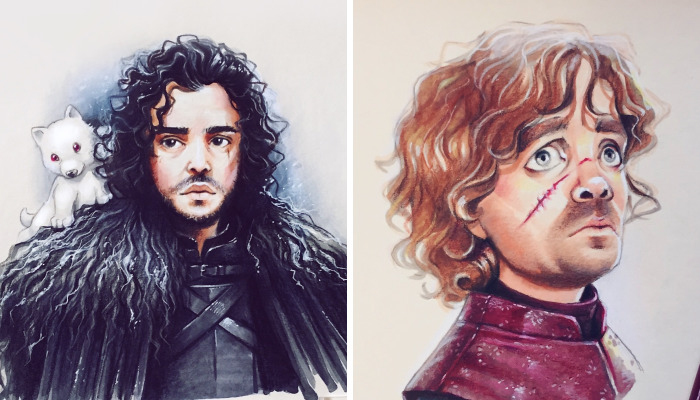 I Draw Cartoon Versions Of Game Of Thrones Characters