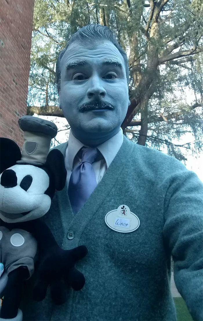 My Friend Went As Walt Disney Fresh Out Of The Freezer