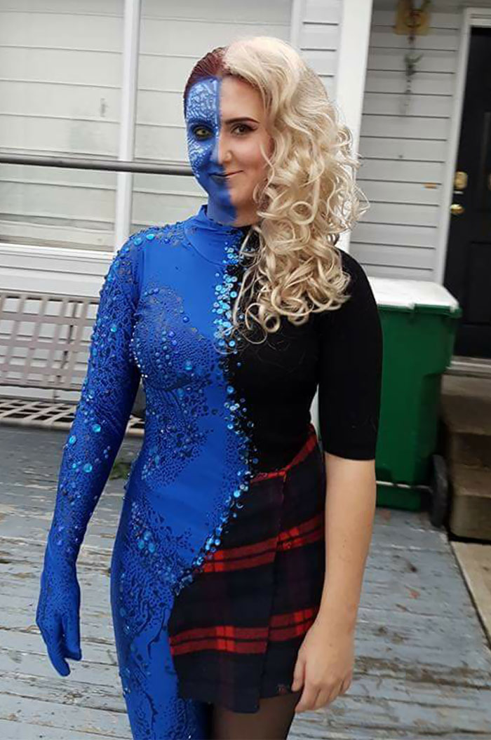 I Was Transforming Mystique For Halloween