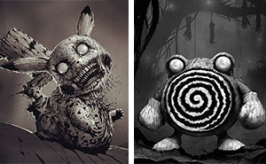 Artist Reimagines Pokémon Characters As Monsters, And It Will Give You Nightmares