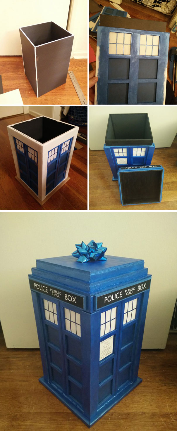 I Made A Tardis Gift Box For My Girlfriend