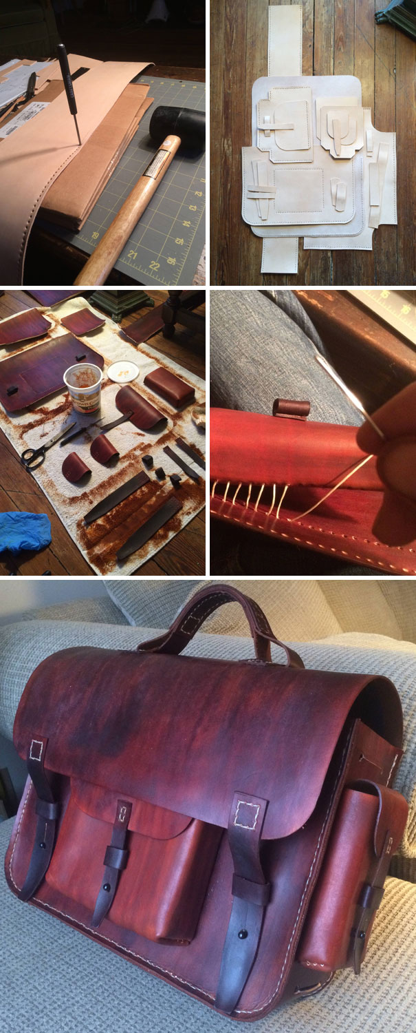 I Made My Supercool Girlfriend A Leather Messenger Bag For Christmas