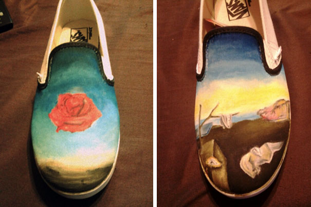 This Are My Salvador Dali Vans, Made By My Boyfriend For Me On Valentine's